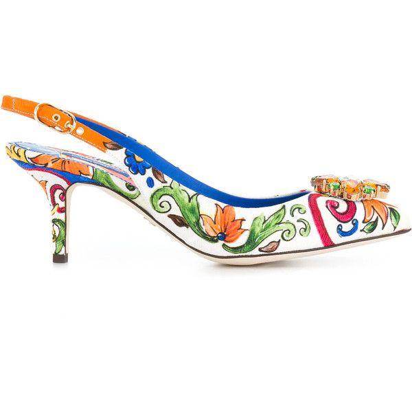 Bellucci embellished slingback pumps - Multicolour Dolce & Gabbana KBcri