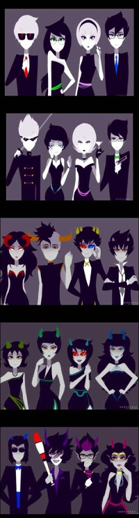 ooh snazzy dressed homestuck characters yes i like this very much rh pinterest com
