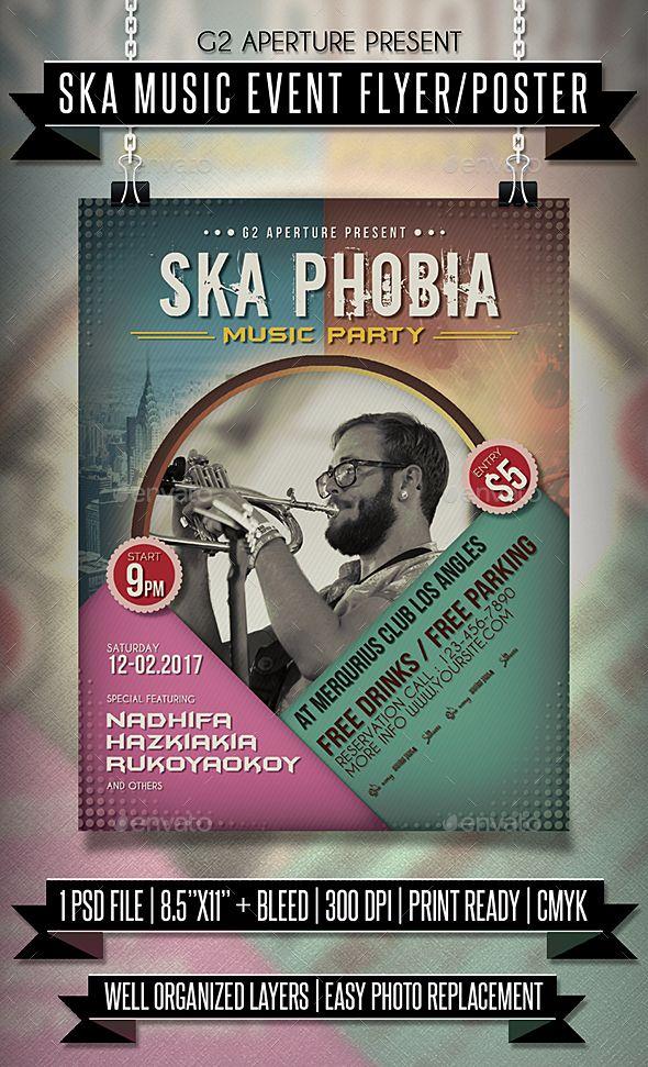 Ska Music Event Flyer  Poster  Ska Music Event Flyers And Ska