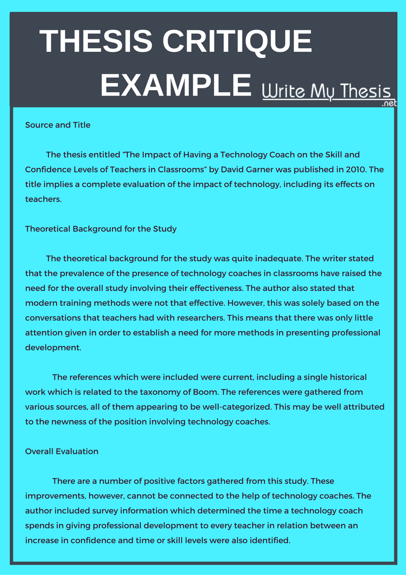 Thesi Critique Example Writing Dissertation