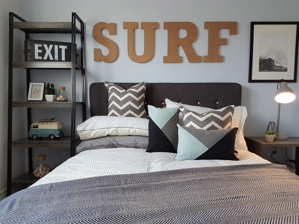 My Teenage Boy Surfer Themed Bedroom Beach Bedroom Decor Surf