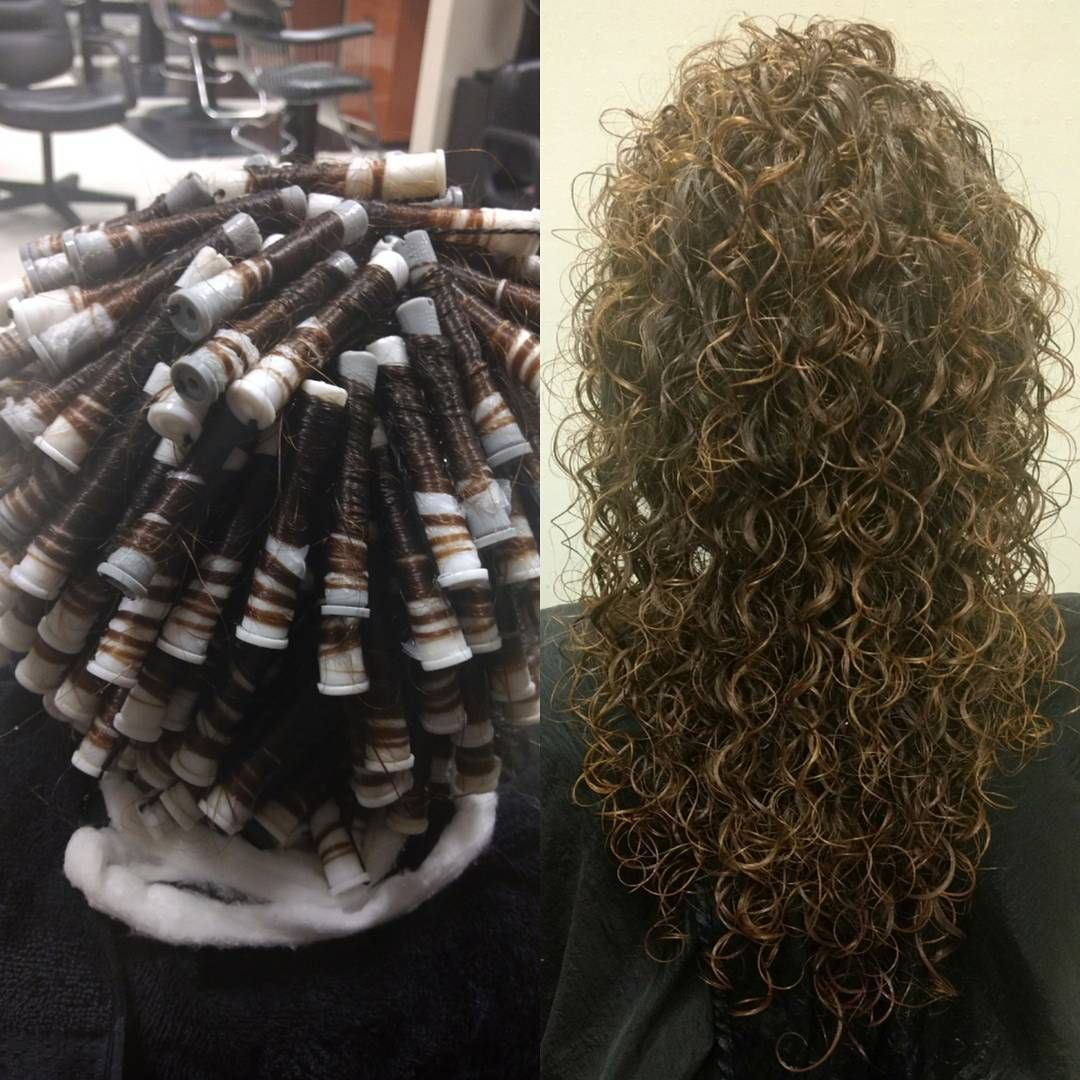 Rollup Spiralperm Matrix Opticurl Finished With Matrixhaircare New Boho Air Dry Cream For Curlyhair Long Hair Perm Perm For Thin Hair Permed Hairstyles
