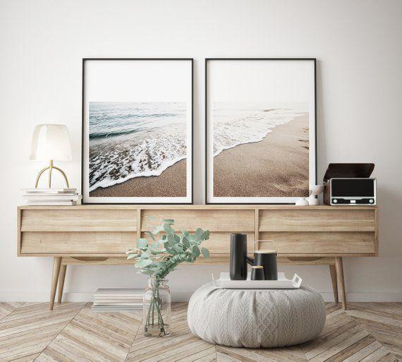 Photo of Ocean Rocks Aerial View Print Navy Blue Coastal Wall Art Ocean Decor Nature Land…