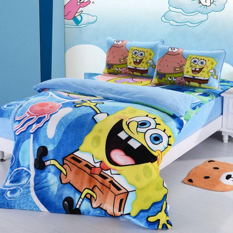 Spongebob Sky Blue Style3 Kids Bedding Duvet Cover Set