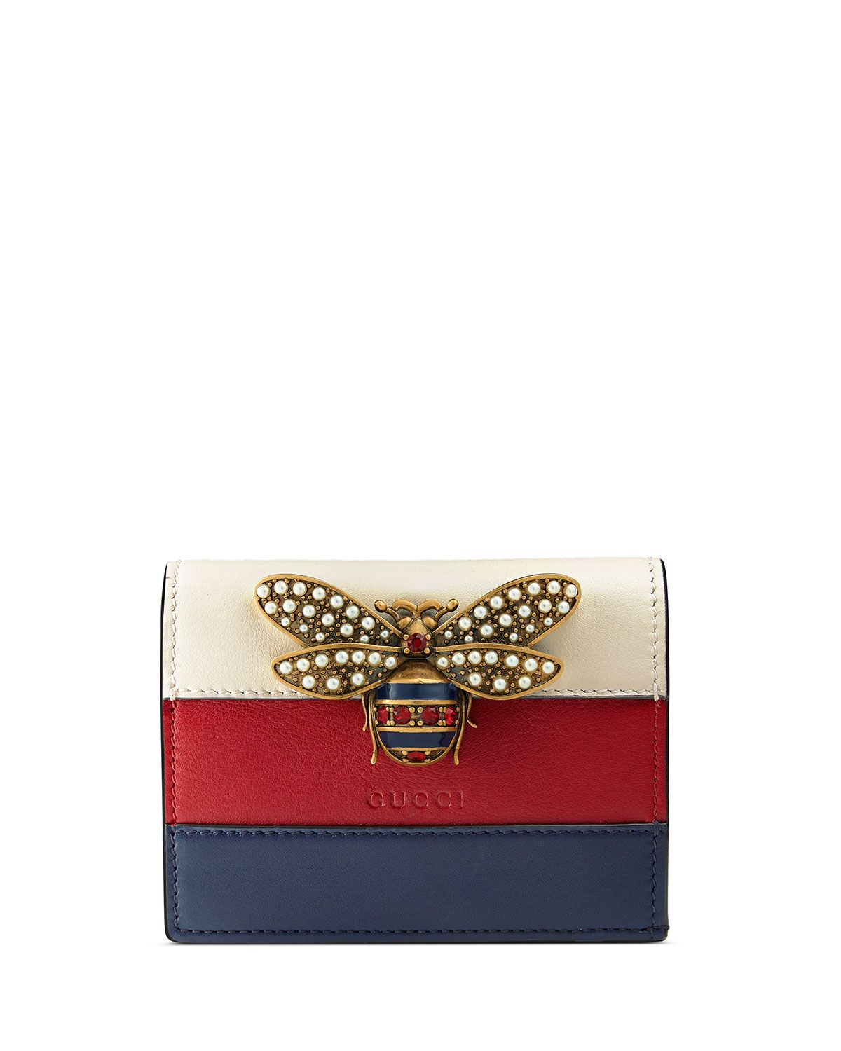 3b9147eb0 Fly Ornament Card Case | Gucci | Gucci, Gucci clutch, Fashion