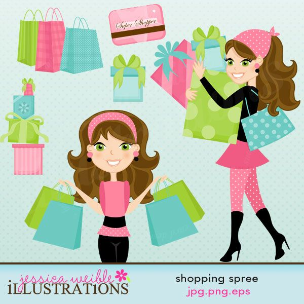 Shopping spree shop till u drop art and illustration for Shopping certificate template