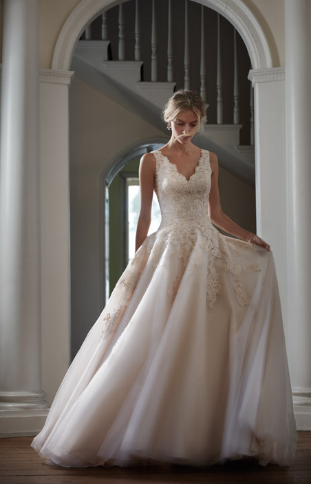 BHLDNs Etoile Ariane Gown in Creme Gowns Weddings and Wedding dress