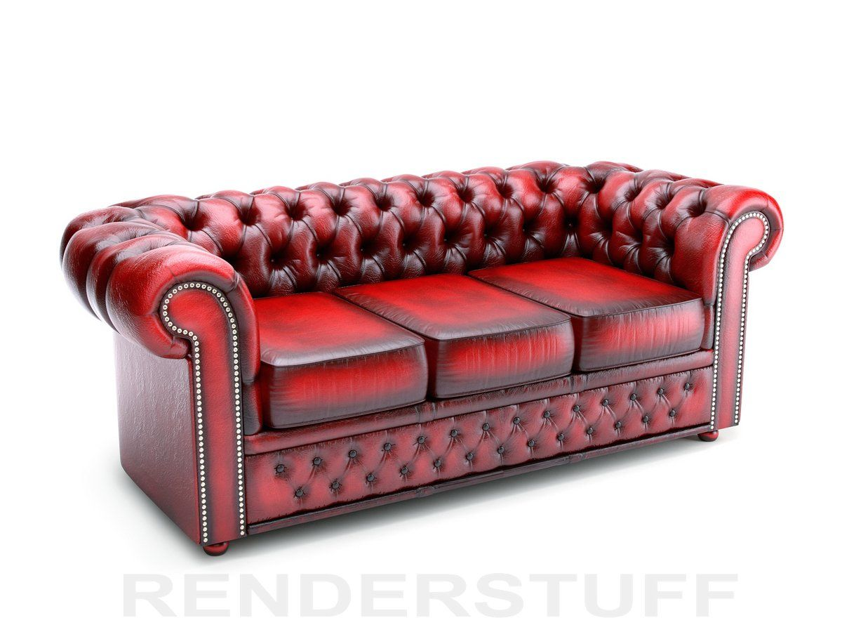 Large Oxblood Chesterfield Couch