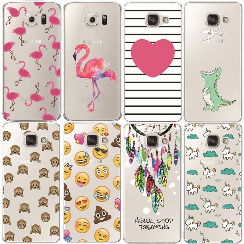 Flamingo Case For Samsung Galaxy S4 S5 S6 S7 Edge S8 Plus A3 A5 2016 2015 2017 J1 J2 J3 J5 J7 Transparent Silicone Fundas //Price: $3.96 & FREE Shipping // Go to Femannbuydirectchina.com