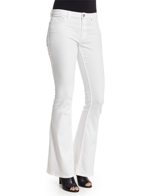 Janice Flare-Leg Jeans, Women's, Size: 27, White - Elie Tahari