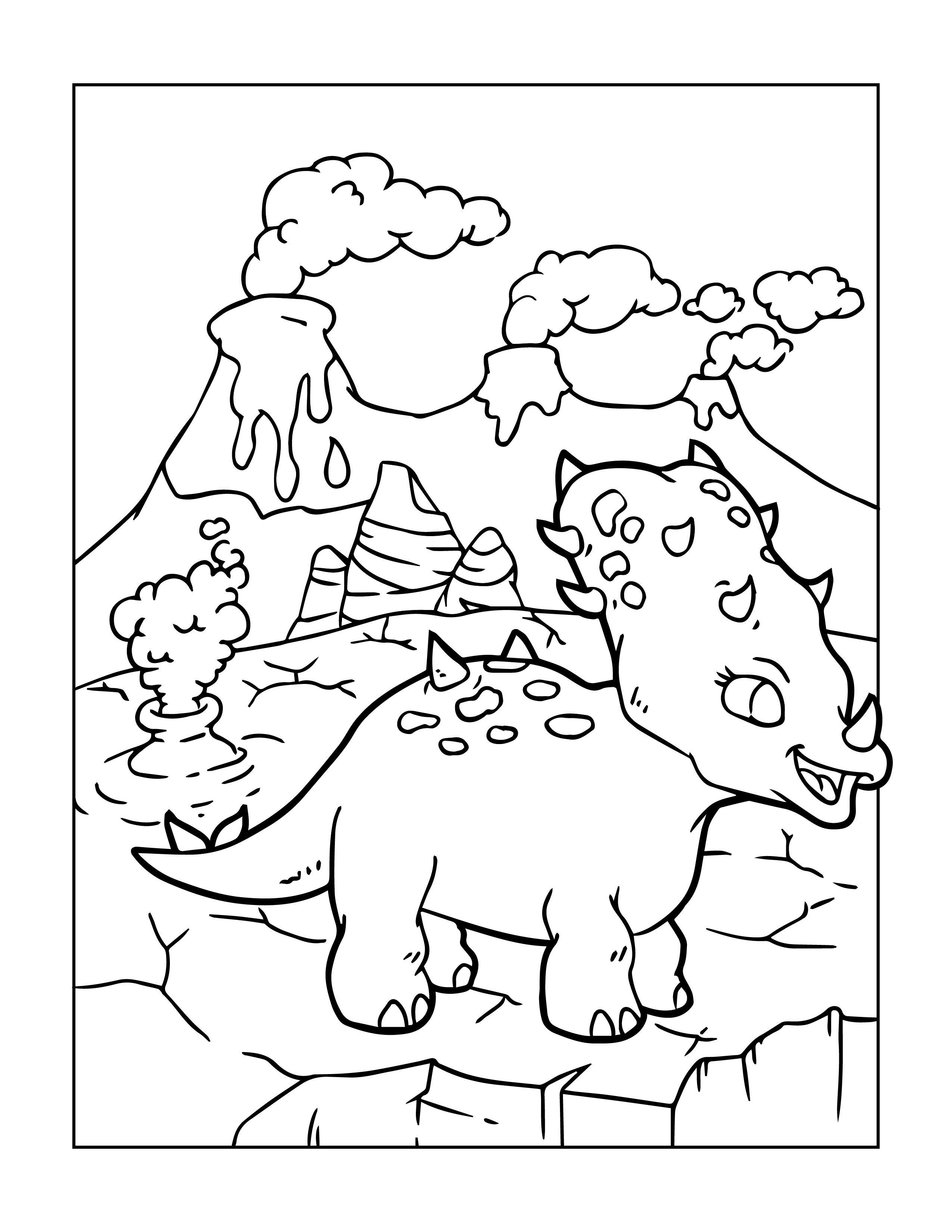 Dinosaurier Malvorlagen für Groß und klein zum kostenlosen ...