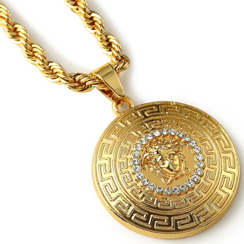 2015-NEW-Fashion-Design-Men-Necklace-24k-gold-Pendant-Jewelry ...