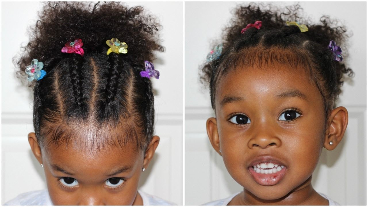 Cornrows In Ponytails Cute Hairstyle For Curly Girls
