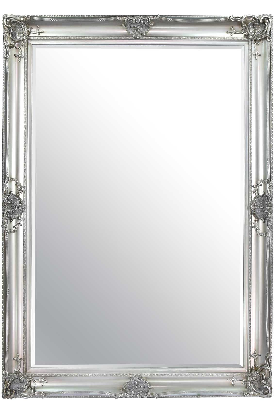 Honiton Extra Large Silver Mirror 213x152cm Silver Framed Mirror Mirror Silver Mirrors