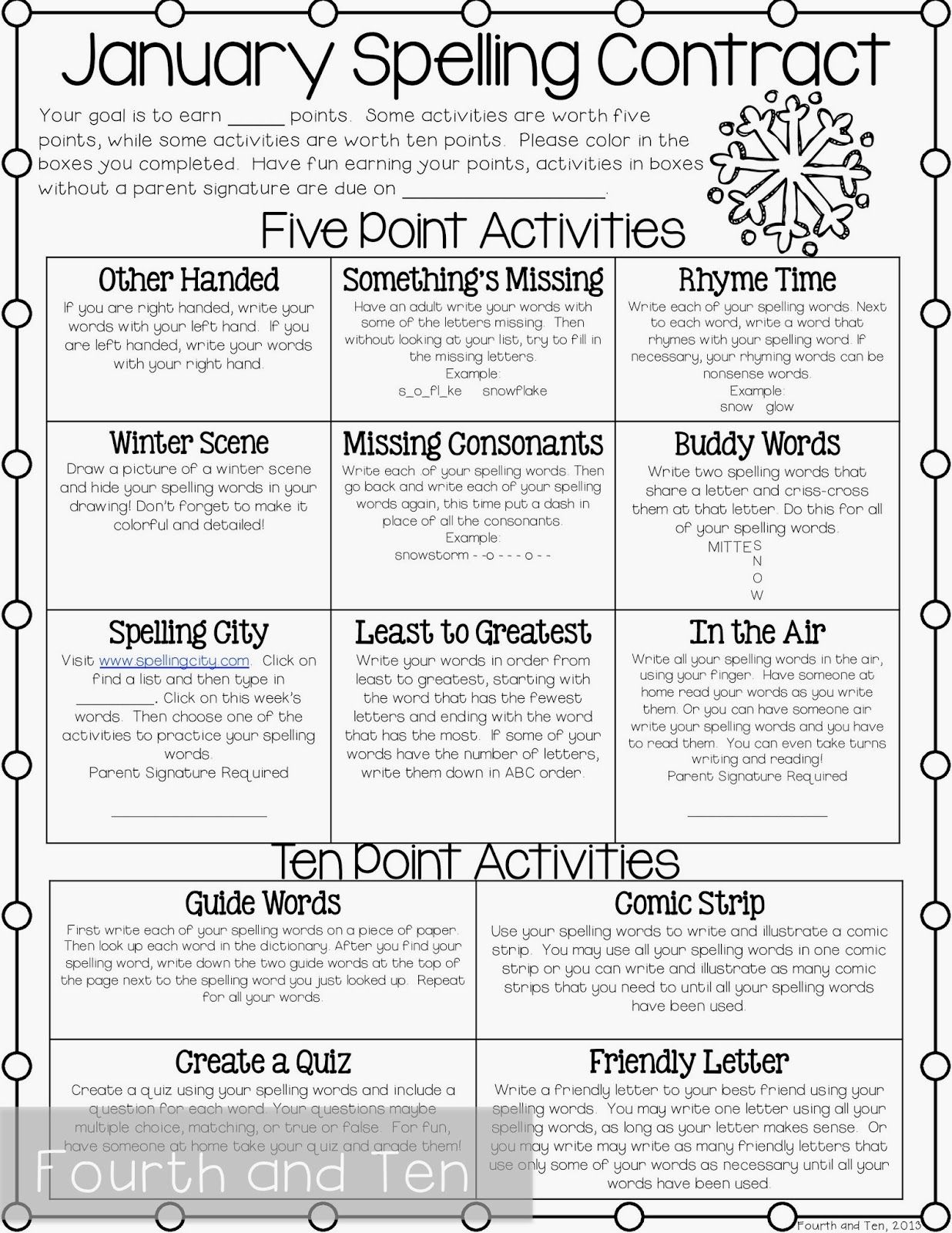 fourth and ten my fourth grade homework routine classroom ideas grade spelling spelling. Black Bedroom Furniture Sets. Home Design Ideas