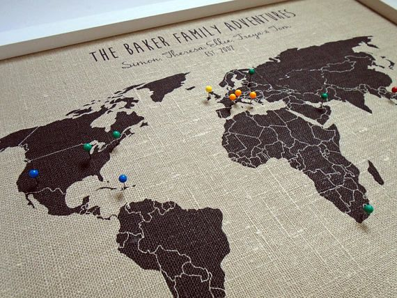 Our travels world pushpin map personalised travel map world map our travels world pushpin map personalised travel map world map wall art wedding gumiabroncs Gallery