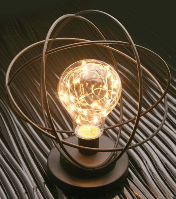 atomic age LED metal accent lamp
