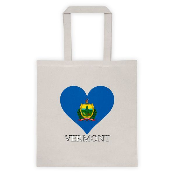 Vermont Heart State Flag Tote