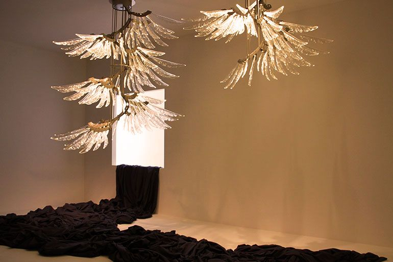 Angel Ceiling Lamp By Barovier U0026 Toso Lamps, Each Feather Is Lit By LED,  From Blog Ethnic Chic