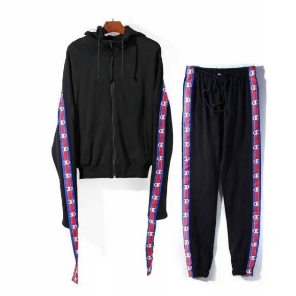 Vetements X Champion Cotton-blend Track Pants and Hoodie in Black