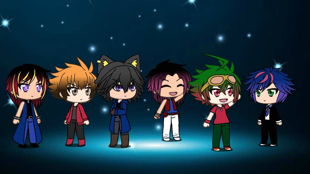 The First Character And The Fourth Character Are Yugi And Yuma