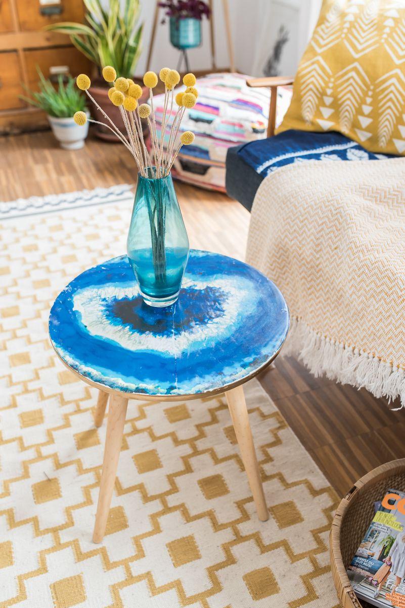 DIY - Tisch im Achat Look   DIY ideas
