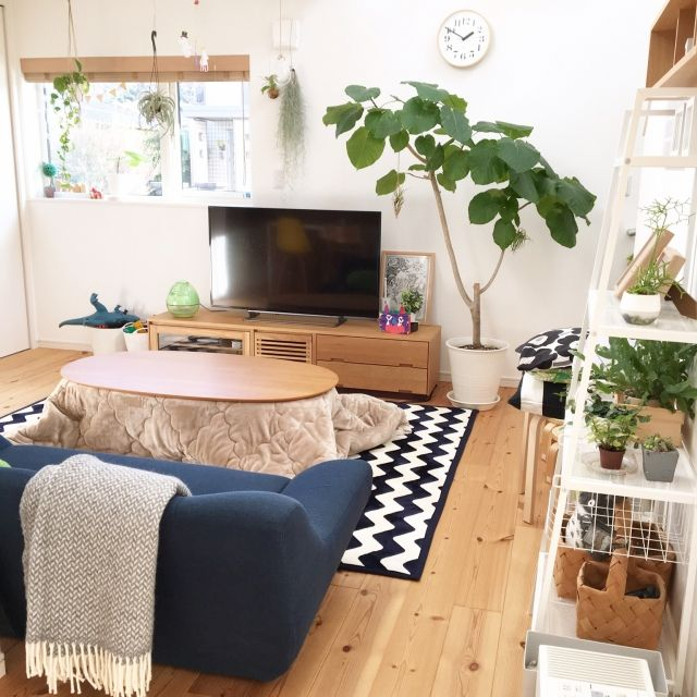 kana_homeさんの、部屋全体,無印良品,ナチュラル,IKEA,雑貨,マリメッコ,北欧,吹き抜け,シンプル,こたつ,北欧インテリア,ハンギング,マイホーム,注文住宅,こどもと暮らす,シンプルな暮らし,のお部屋写真