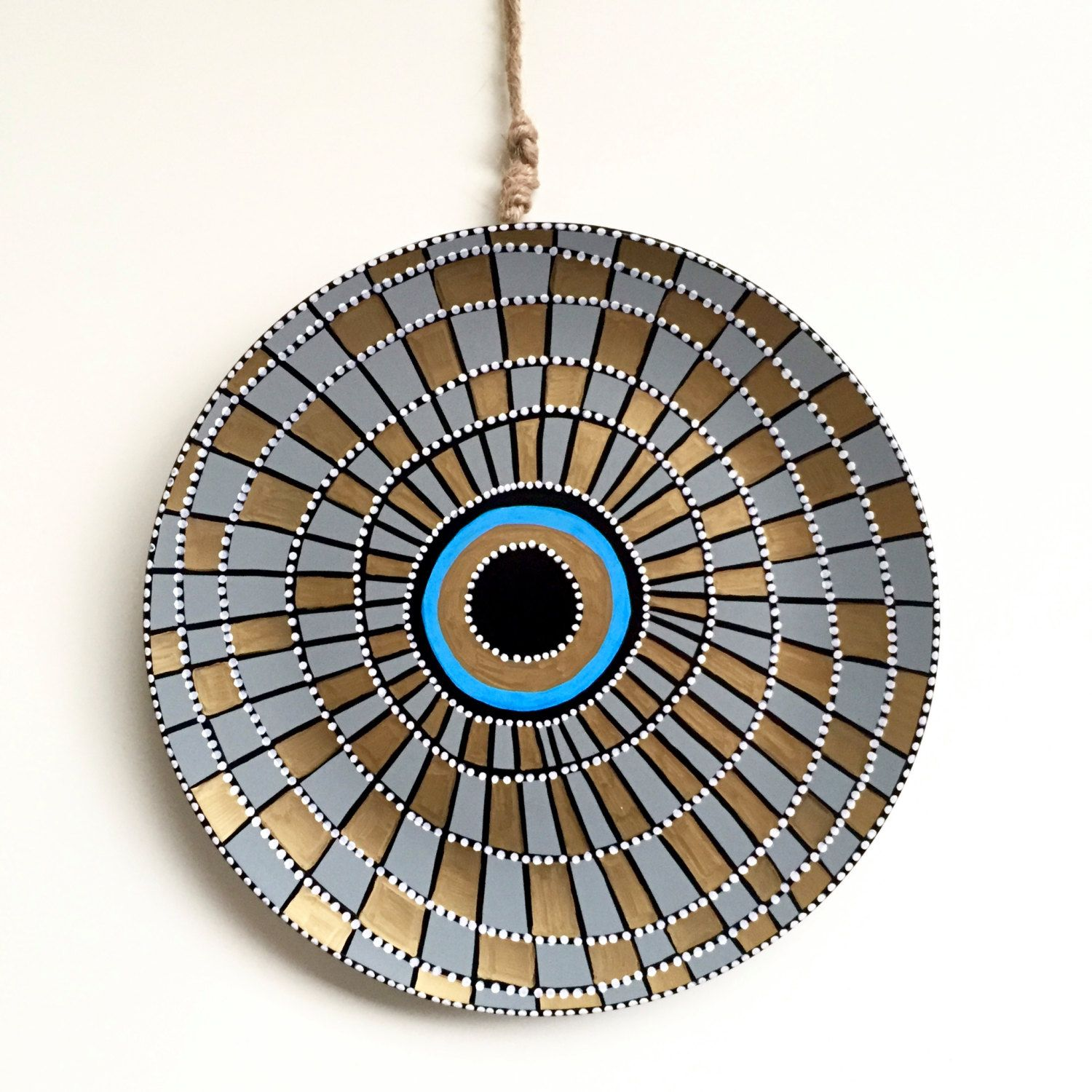 Golden and blue decor spiral wall art porcelain evil eye golden and blue decor spiral wall art porcelain evil eye wall hanging amipublicfo Gallery