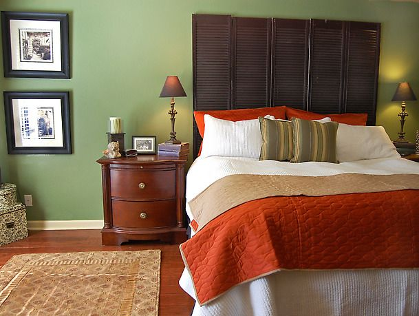 What Color Green Would Contrast With Burnt Orange Interior Paint