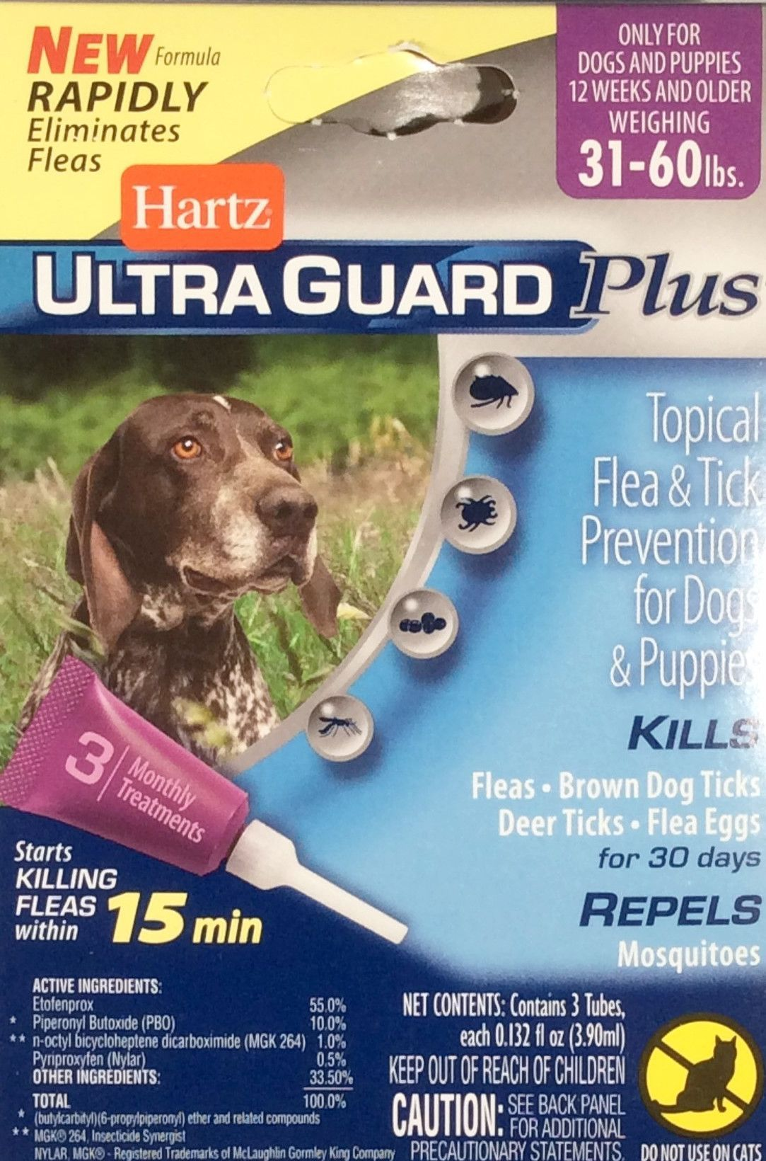 Hartz Ultra Guard Plus Topical Flea Tick Dogs Puppies Brown Dog Tick