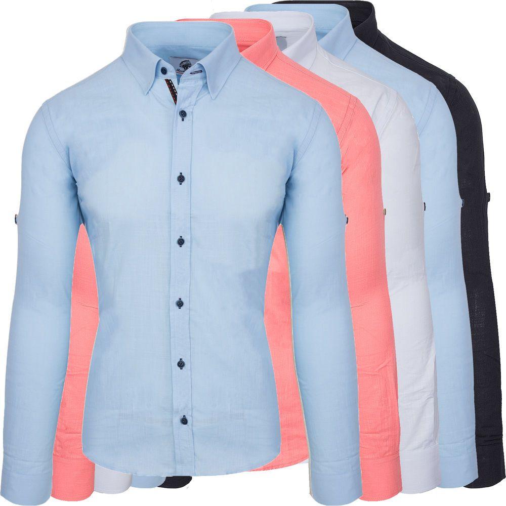 541b92b677ed Designer Rock Creek Herren Leinen Hemd Casual Hemd Leinenhemd Übergrößen  RC-018