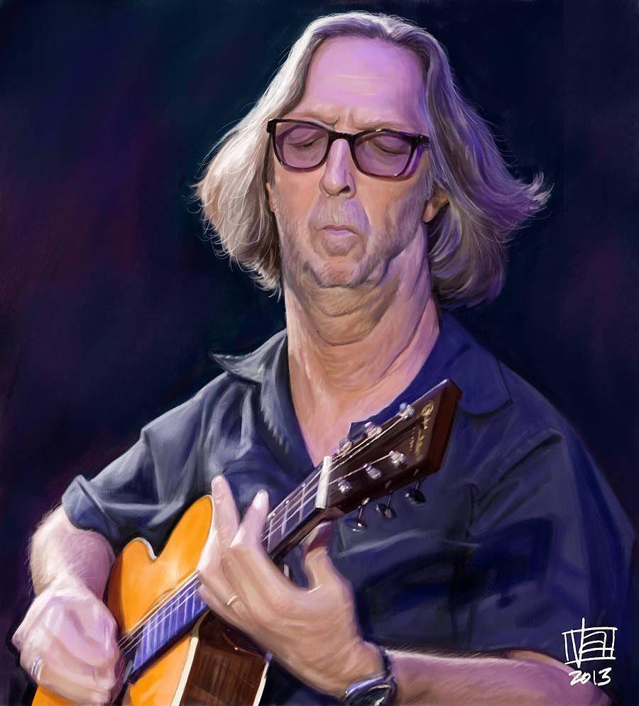 Caricatura de Eric Clapton.