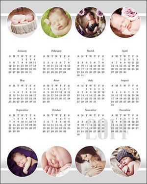 Calendar Templates :: 2014 :: Great for client gifts and mini session add-ons!