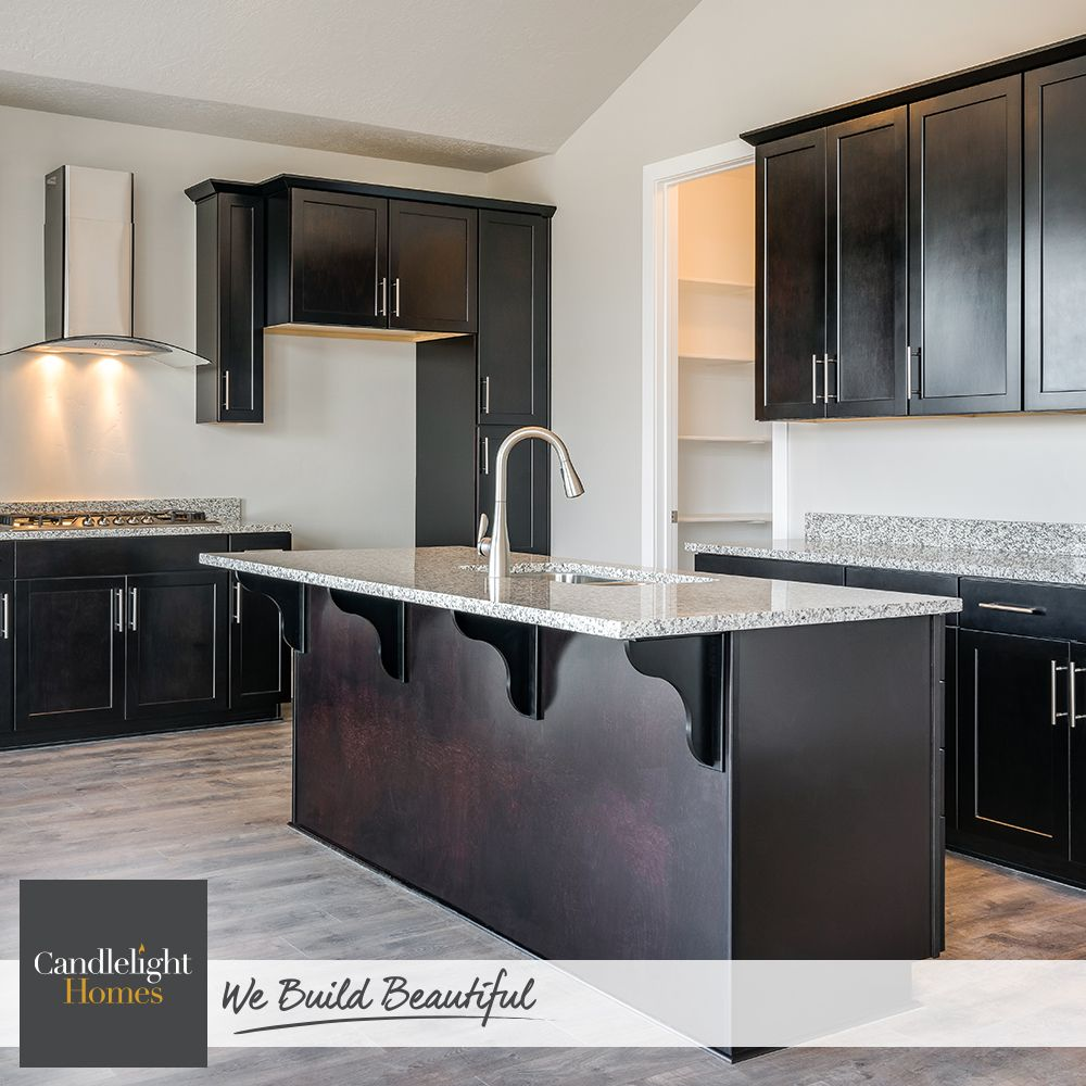 These Dark Chocolate Cabinets Are Giving Us A Serious Sweet Tooth Candlelighthomes Utahhomes Utahbuilder Webuildbeautifu New Homes For Sale Home New Homes