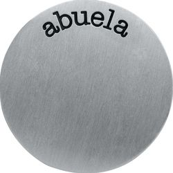Large Silver Abuela Plate  - #locketandcharms.com by #locketsncharms Jennylou Raya #origamiowl #1186  #espanol #charms #silver #handstamped #plate