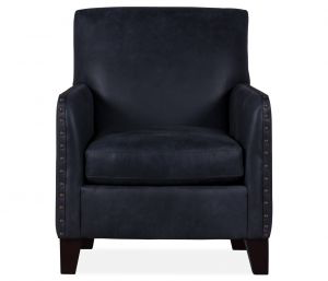 Paxton Leather Chair Kenya Midnight Upholstered Chairs Chair Boston Interiors