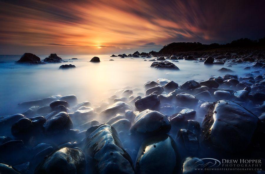 pebbly beach sunrise by drewhopper deviantart com on deviantart