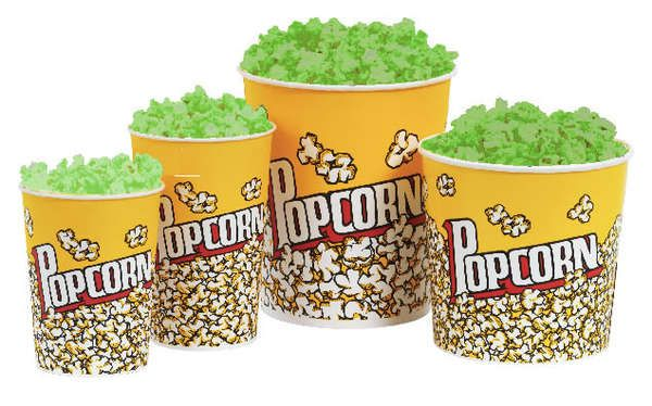 If you're looking for some out of the ordinary theatre snacks to munch on, then the glow-in-the-dark popcorn is just for you. Scientists at Cambridge have created a safe and edible illuminated popcorn recipe for moviegoers to enjoy worldwide