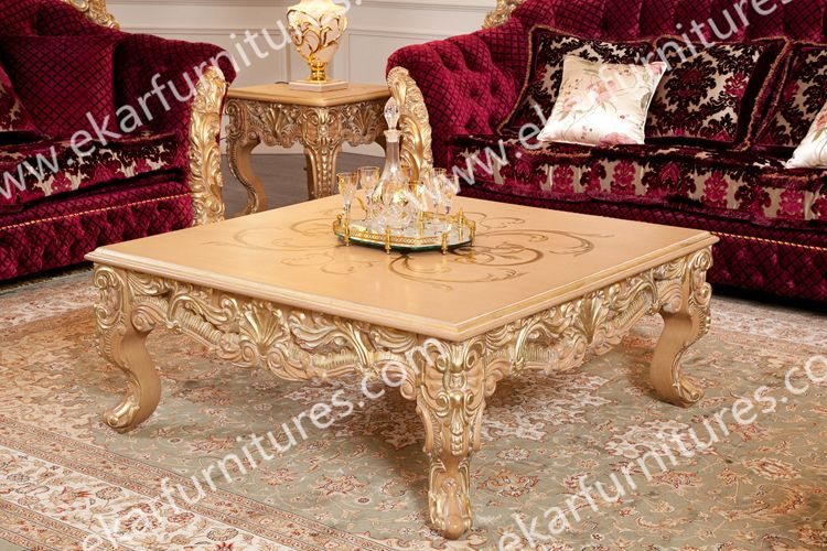 Germany Baroque Furniture Solid Wooden Sculpture Hand Carved Gold