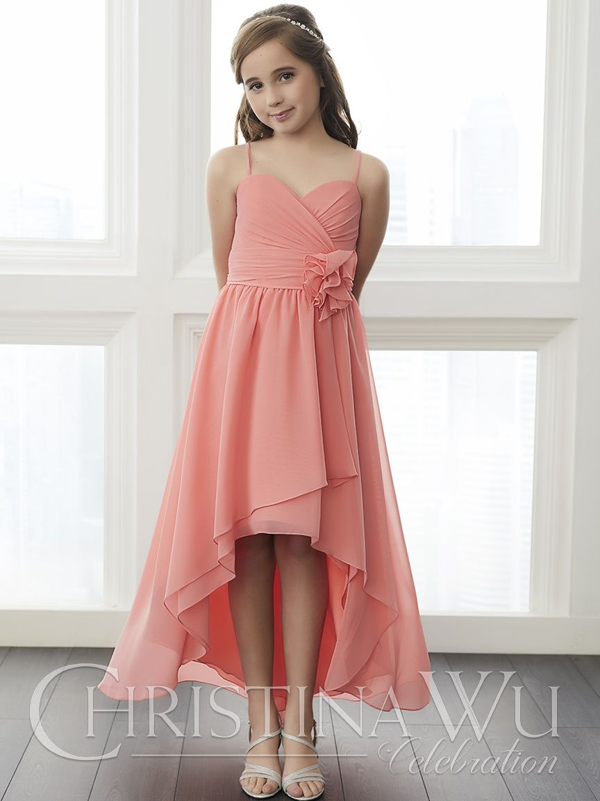 32648 - House of Wu In Coral in a size 10 | Flower Girl Dresses ...
