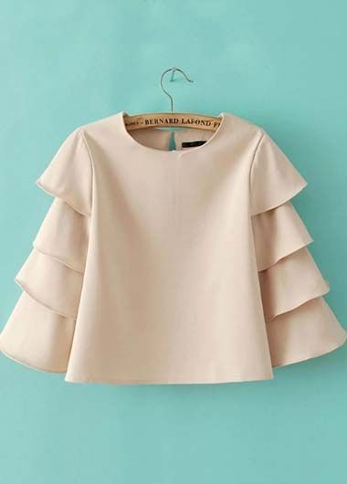 tiered sleeve blouse