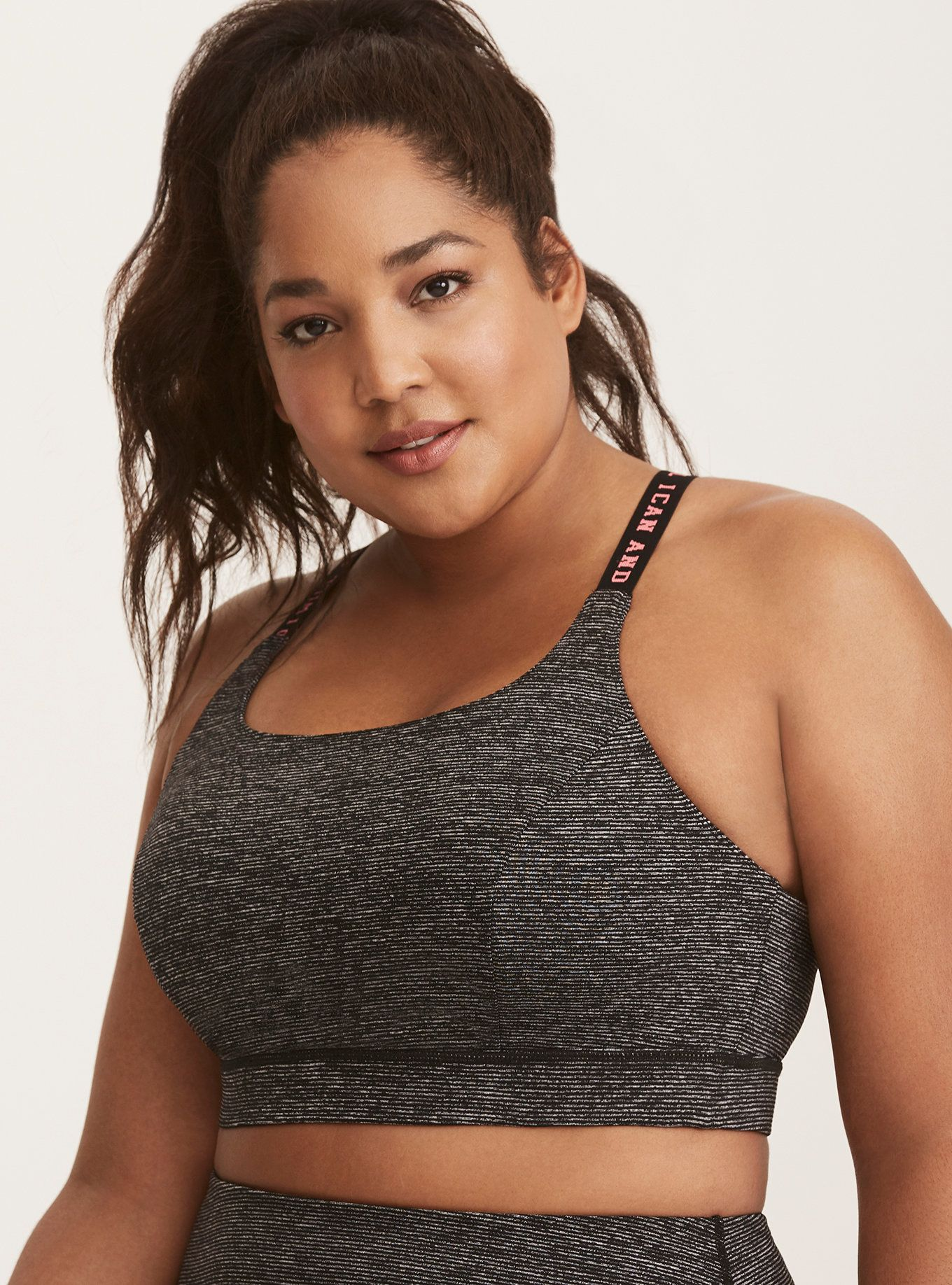 a4f3b04828aae Torrid Active - Space Dye Graphic Strap Sports Bra