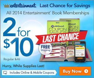 2 entertainment books for 10 shipped reg 70 bargains found