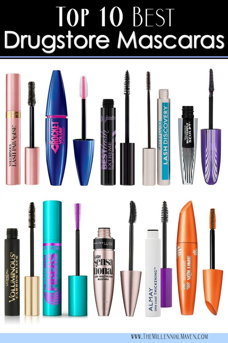 03980cf7101 Top 10 Best Drugstore Mascaras (all types for all seasons!)