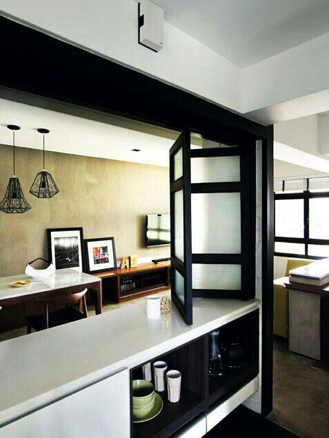 Half Wall Half Windows Home Decor Kitchen Kitchen