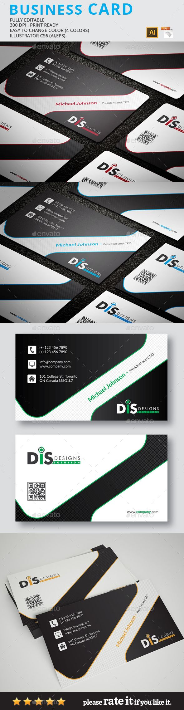 Business Card | Cleanses, Modern and Illustrators