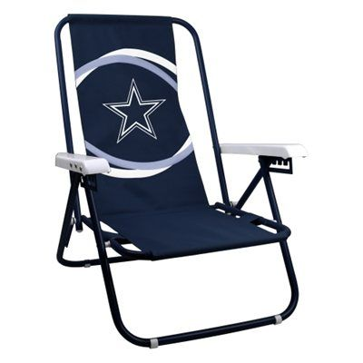 Dallas Cowboys Two Position Beach Chair   Navy Blue