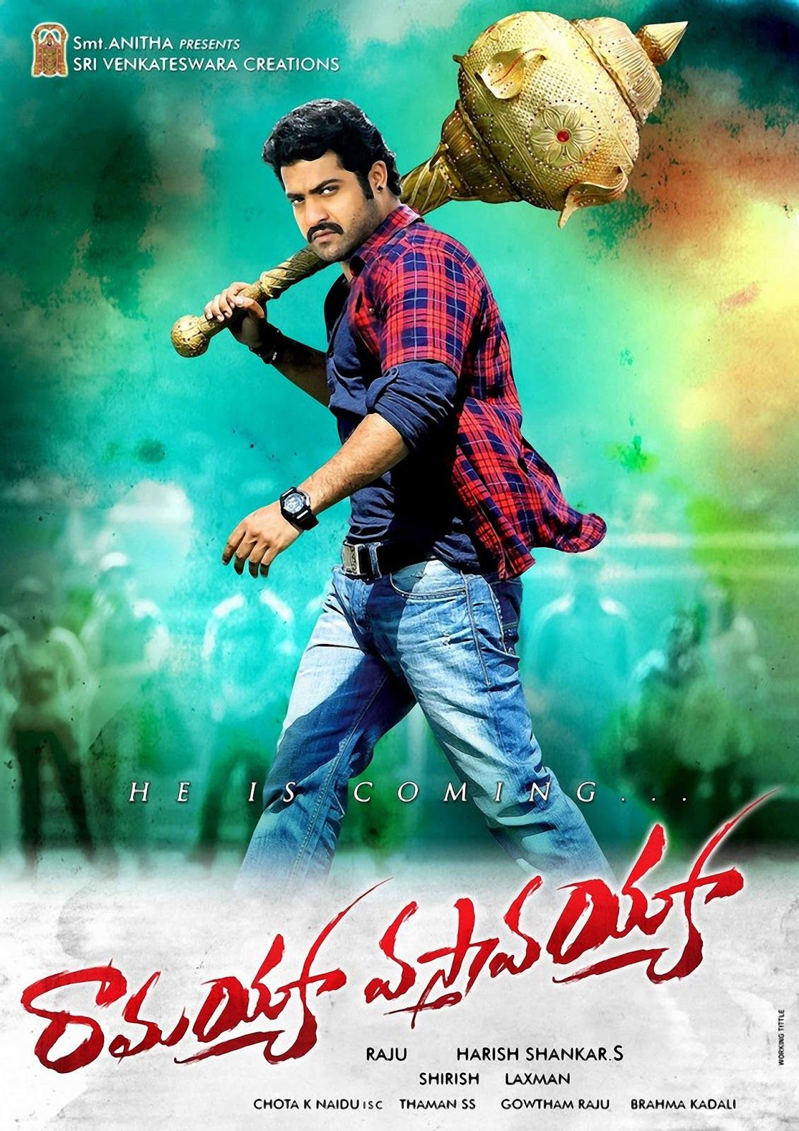 ramayya vasthavayya first look poster @ http://pjmaja.blogspot.in