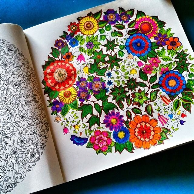 Johanna Basfords Coloring Books For Adults Reach The No 1 On Amazons Best Seller List