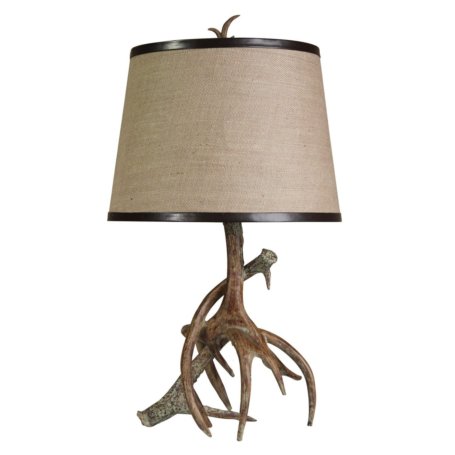 Rustic Table Lamp | Rustic table lamps, Antler lamp, Table ...